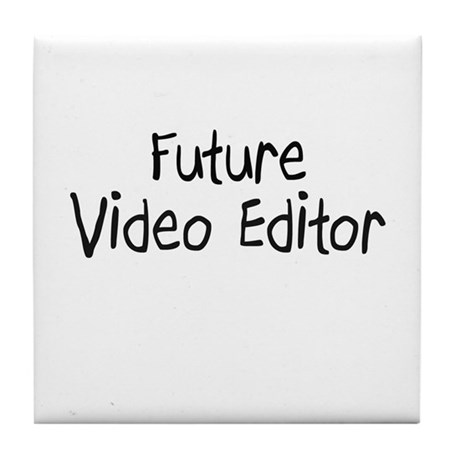 Future Video Editor Tile Coaster