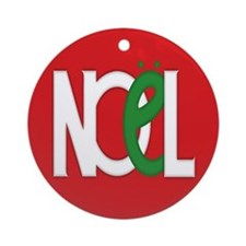 NOEL Red Ornament (Round)