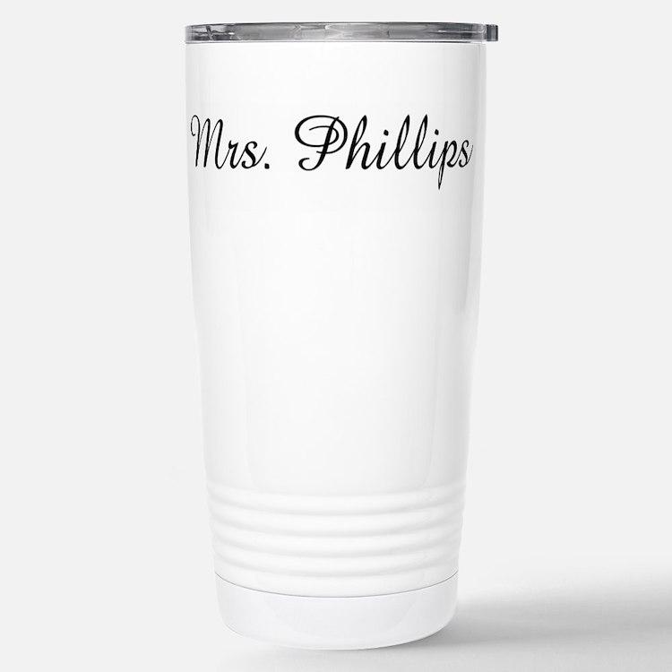 Cute Mrs phillips Travel Mug
