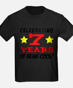 Celebrating 7 Year Old Birthday T-Shirt