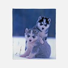 Cute Snow Throw Blanket