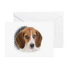 Beagle Close Up Greeting Cards (Pk of 10)