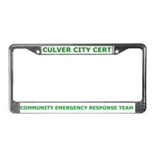 Culver City CERT License Plate Frame
