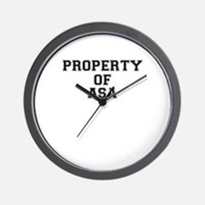 Property of ASA Wall Clock