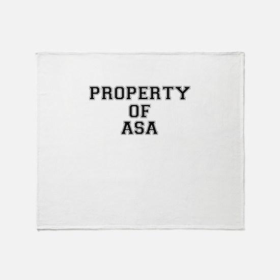 Property of ASA Throw Blanket