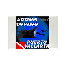 Scuba Diving Puerto Vallarta Rectangle Magnet