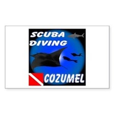 Scuba Diving Cozumel Rectangle Decal