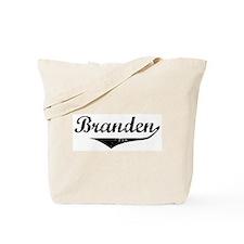 Branden Vintage (Black) Tote Bag