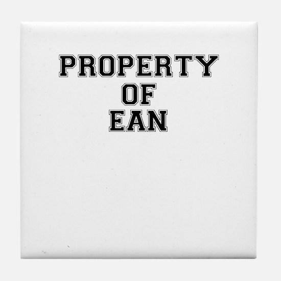 Property of EAN Tile Coaster