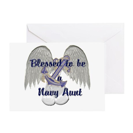 Blessed Navy Aunt Greeting Card