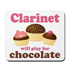 Funny Chocolate Clarinet Mousepad