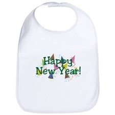 New Year Party Hats Bib