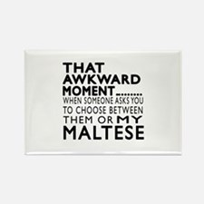 Awkward Maltese Dog Designs Rectangle Magnet