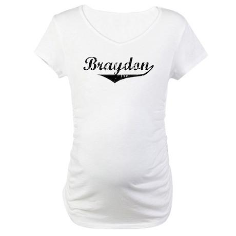 Braydon Vintage (Black) Maternity T-Shirt