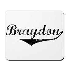 Braydon Vintage (Black) Mousepad