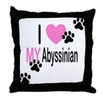I Love My Abyssinian Throw Pillow