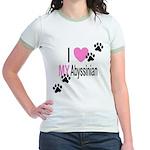 I Love My Abyssinian Jr. Ringer T-Shirt