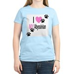 I Love My Abyssinian Women's Pink T-Shirt