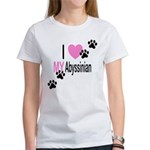 I Love My Abyssinian Women's T-Shirt