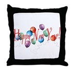 New Year Balloons Throw Pillow