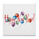 New Year Balloons Tile Coaster