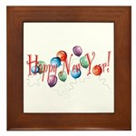 New Year Balloons Framed Tile