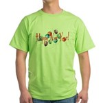 New Year Balloons Green T-Shirt