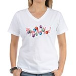 New Year Balloons Women's V-Neck T-Shirt