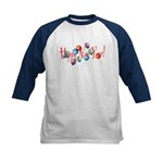 New Year Balloons Kids Baseball Jersey