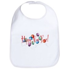 New Year Balloons Bib