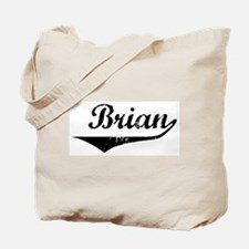 Brian Vintage (Black) Tote Bag