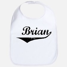 Brian Vintage (Black) Bib