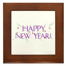 New Year Confetti Framed Tile