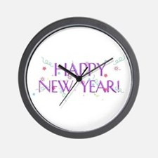 New Year Confetti Wall Clock