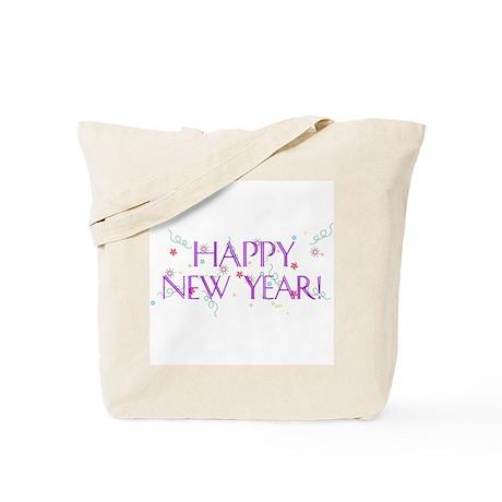 New Year Confetti Tote Bag