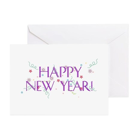 New Year Confetti Greeting Cards (Pk of 20)
