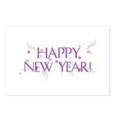 New Year Confetti Postcards (Package of 8)