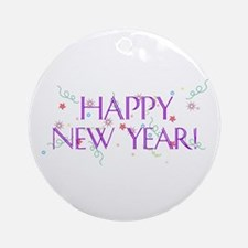 New Year Confetti Ornament (Round)