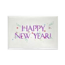 New Year Confetti Rectangle Magnet