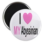 I Love My Abyssinian Magnet