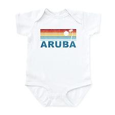 Retro Palm Tree Aruba Infant Bodysuit