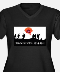 Flanders Fields 1914-1918 Women's Plus Size V-Neck
