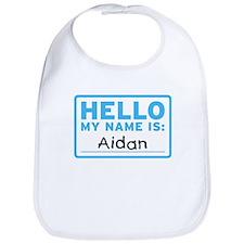 Hello My Name Is: Aidan - Bib