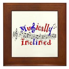 Musically Inclined Framed Tile