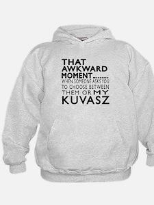 Awkward Kuvasz Dog Designs Hoodie