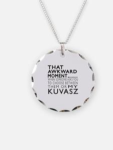 Awkward Kuvasz Dog Designs Necklace