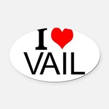I Love Vail Oval Car Magnet