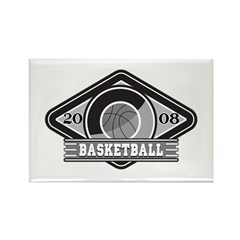 2008 Basketball Logo Rectangle Magnet (10 pack)