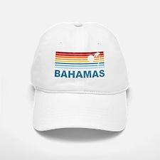 Retro Bahamas Palm Tree Baseball Baseball Cap