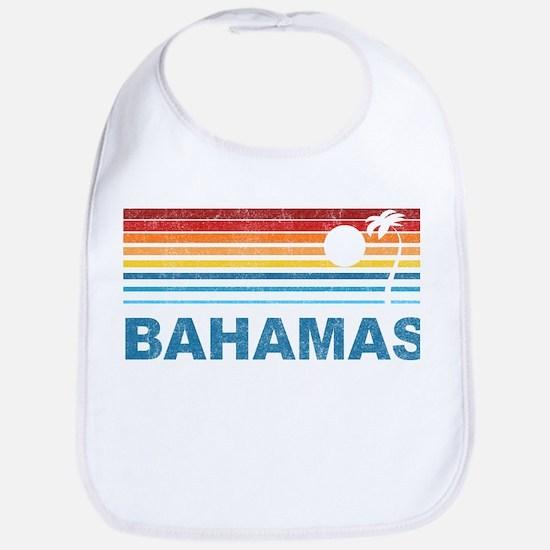 Retro Bahamas Palm Tree Bib